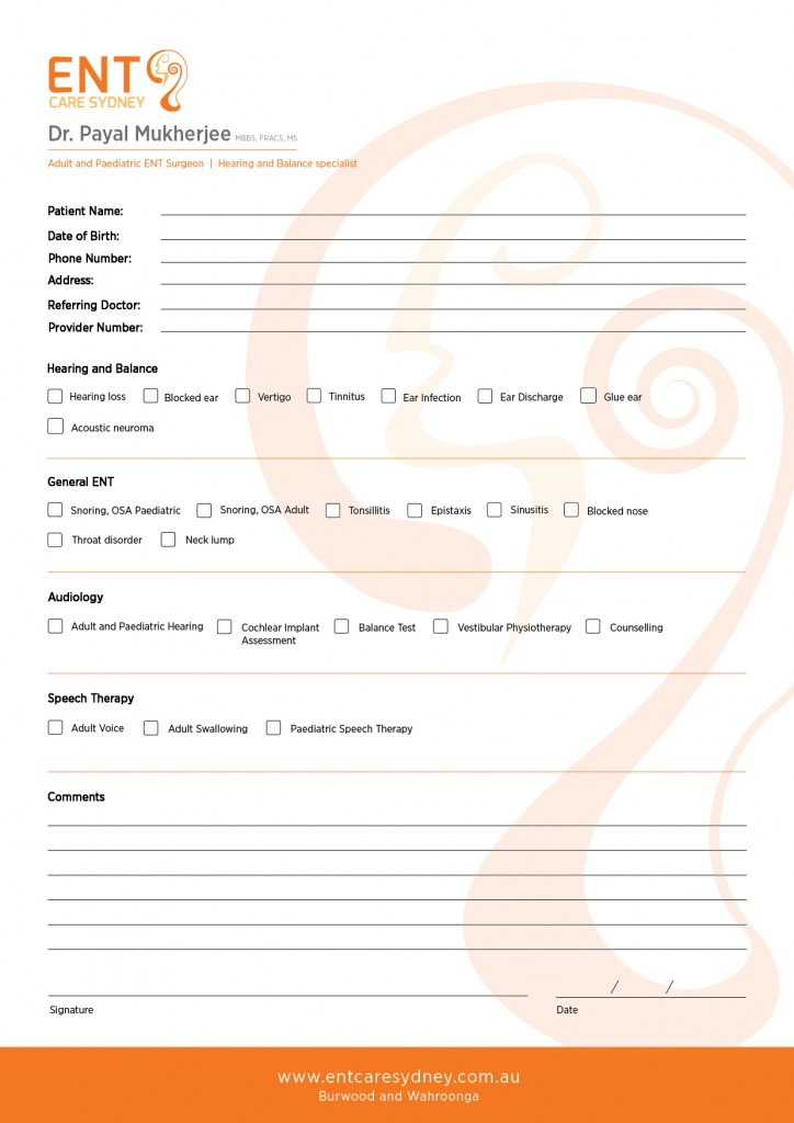 Referral Form - For GPS